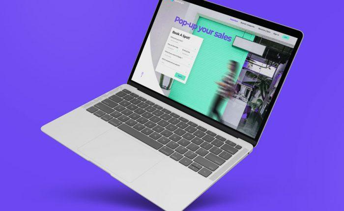 מוקאפ מחשב נייד לעיצוב אתר